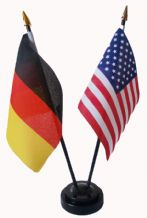 USA / GERMANY - FRIENDSHIP TABLE FLAG SET